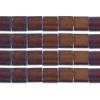 Miyuki Tila Beads 5X5mm 2 Hole Dk Raspberry Opaque Iris Metallic